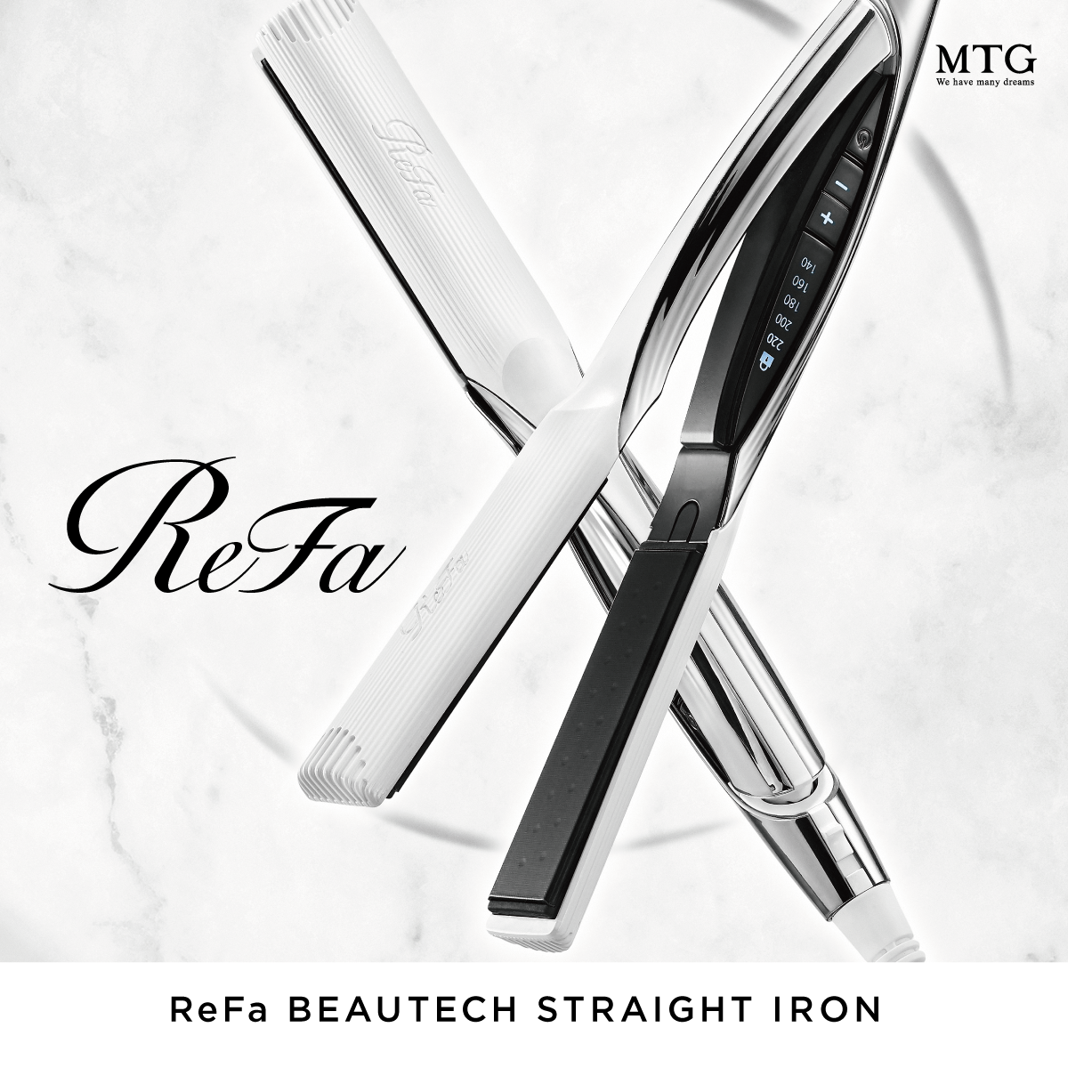 ReFa BEAUTECH STRAIGHT IRON